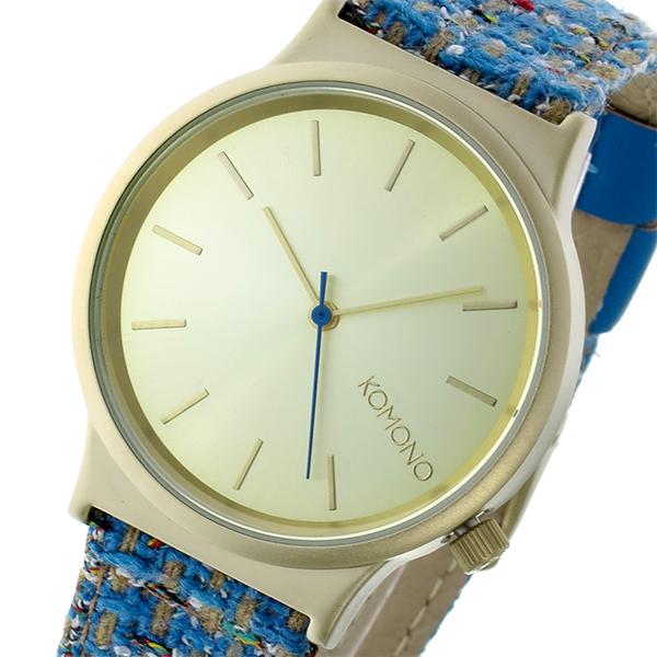 最大ポイント16倍 ギフトラッピング対応 プレゼント包装対応 コモノ レディース ギフ_包装 レザー 送料無料/新品 KOMONO ゴールド 腕時計 Wizard Heritage-Teal