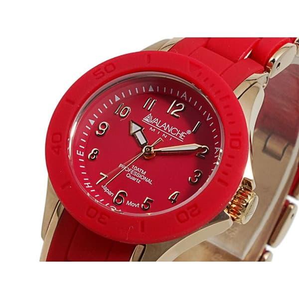 最大ポイント22倍 ギフトラッピング対応 プレゼント包装対応 アバランチ レディース 腕時計 22 超人気 専門店 エントリーでポイント10倍6 AVALANCHE 20時~ レッド×ローズゴールド 通販