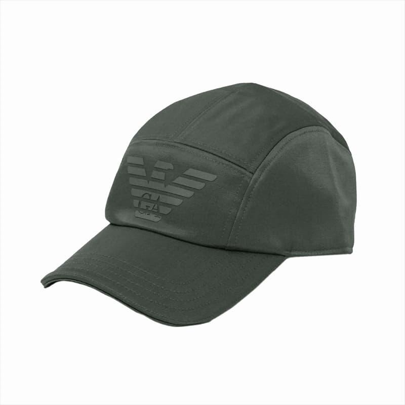 エンポリオアルマーニ EMPORIO ARMANI ベースボールキャップ 野球帽子 メンズ レディース ユニセックス ロゴ マジックテープ S/Mサイズ