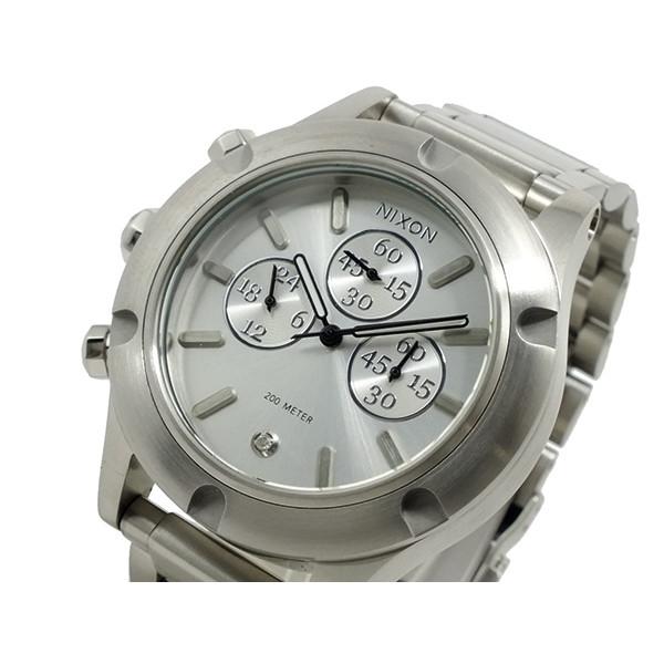ニクソン NIXON 腕時計 メンズ レディース ユニセックス クロノグラフ シルバー CAMDEN CHRONO
