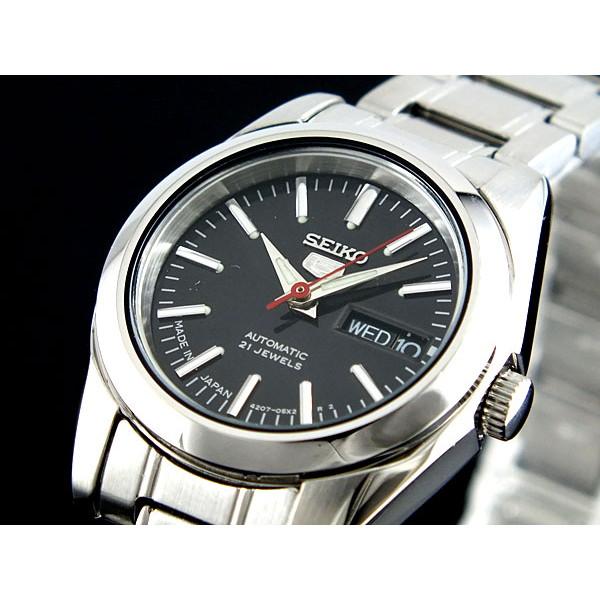 セイコー SEIKO 腕時計 レディース 自動巻き ブラック×シルバー セイコー5 SEIKO5