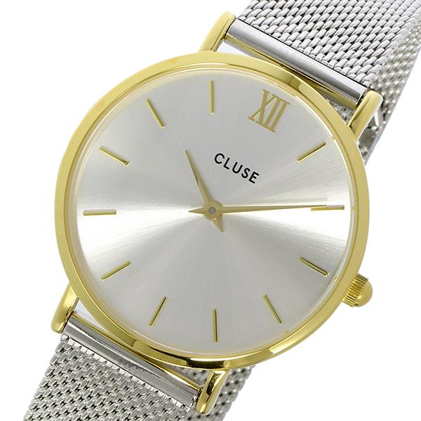 クルース CLUSE 腕時計 レディース メッシュベルト ゴールド×シルバー 33mm ミニュイ