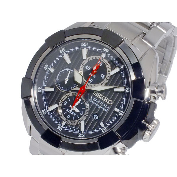 セイコー SEIKO 腕時計 メンズ クロノグラフ 100m防水 ブルー/ブラック/シルバー ベラチュラ