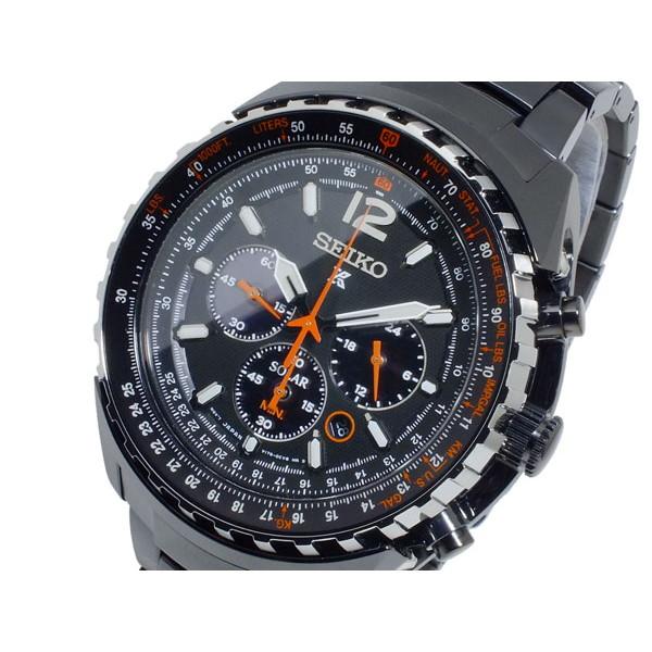 セイコー SEIKO 腕時計 メンズ クロノグラフ ソーラー ブラック×メタルブラック プロスペックス PROSPEX ソーラー