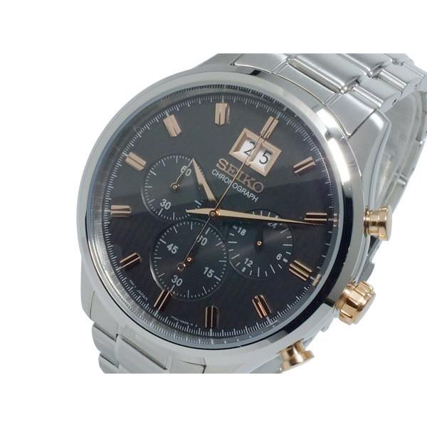 セイコー SEIKO 腕時計 メンズ クロノグラフ ブラック×シルバー