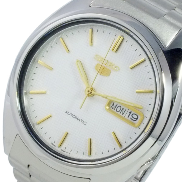 セイコー SEIKO 腕時計 メンズ 自動巻き ホワイト×シルバー セイコー5 SEIKO5