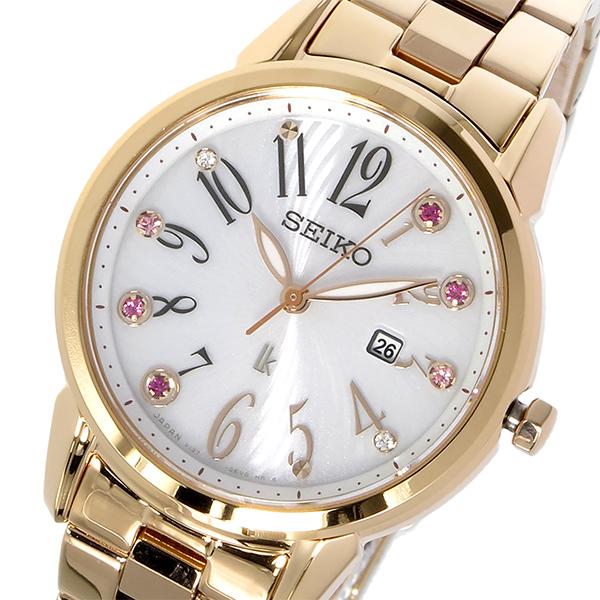 セイコー SEIKO 腕時計 レディース ソーラー ホワイト ルキア LUKIA ソーラー