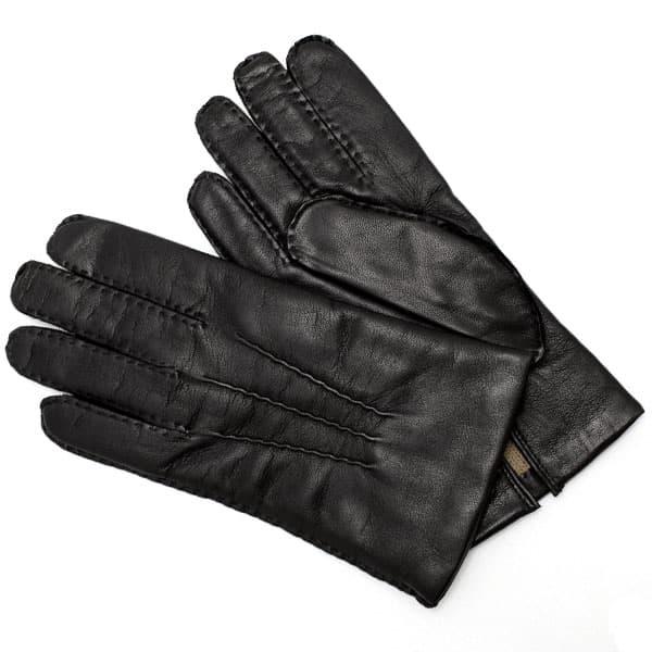 デンツ DENTS 革手袋 グローブ メンズ レディース ユニセックス レザー ウール BLACK 8サイズ