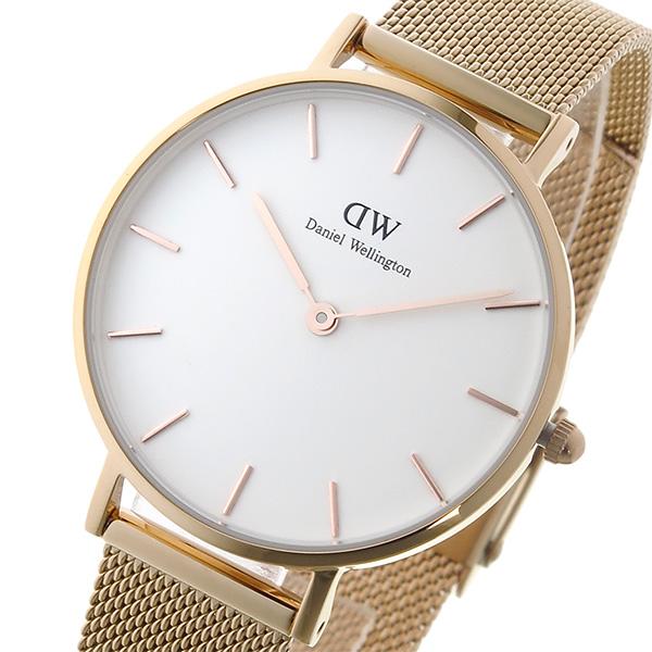 ダニエルウェリントン DanielWellington 腕時計 レディース ホワイト×ローズゴールド クラシックペティート メルローズ/ホワイト 32mm