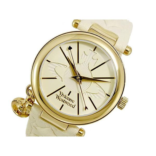 ヴィヴィアンウエストウッド VIVIENNE WESTWOOD 腕時計 レディース レザー ホワイト