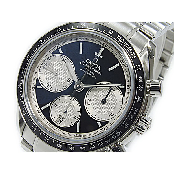 オメガ OMEGA 腕時計 メンズ 自動巻き 100m防水 ブラック×シルバー スピードマスター コーアクシャル