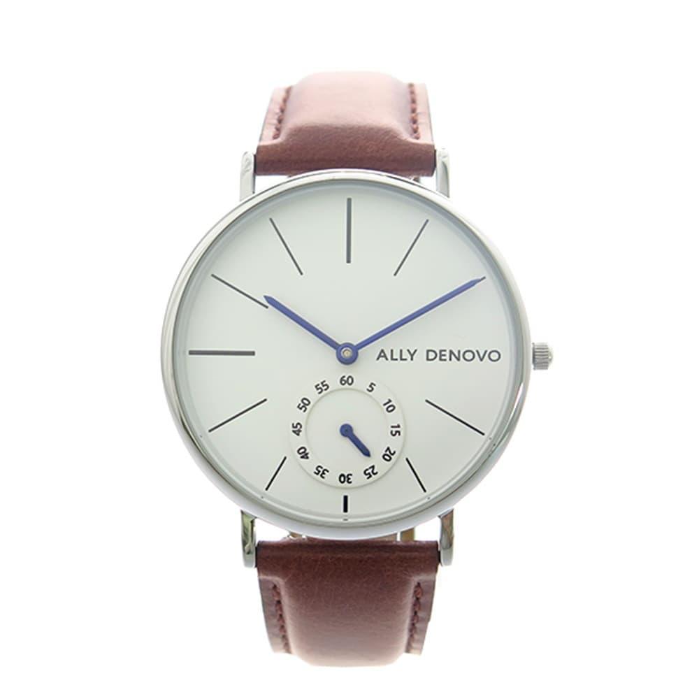 最大ポイント22倍 ギフトラッピング対応 プレゼント包装対応 アリーデノヴォ メンズ レディース ユニセックス チープ 腕時計 エントリーでポイント10倍6 SMALL 22 ホワイト 大幅にプライスダウン DENOVO ALLY HERITAGE 20時~ ブラウン