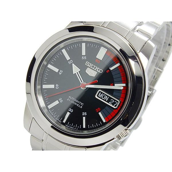 セイコー SEIKO 腕時計 メンズ 自動巻き ブラック×シルバー セイコー5 SEIKO5
