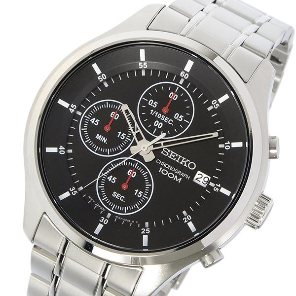 セイコー SEIKO 腕時計 メンズ クロノグラフ ブラック