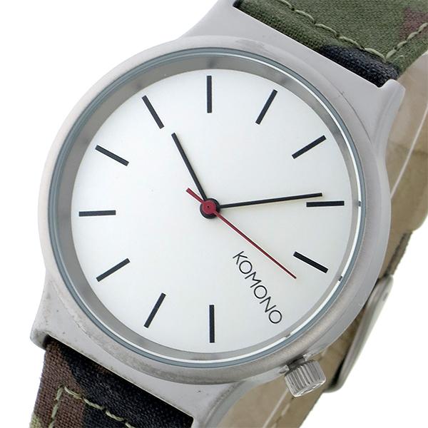 最大ポイント22倍 超安い ギフトラッピング対応 プレゼント包装対応 公式ショップ コモノ レディース レザー 腕時計 エントリーでポイント10倍6 オフホワイト Camo 20時~ Print Wizard KOMONO 22 Series-Woodland
