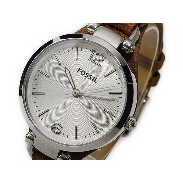 フォッシル FOSSIL 腕時計 レディース レザー シルバー×ブラウン