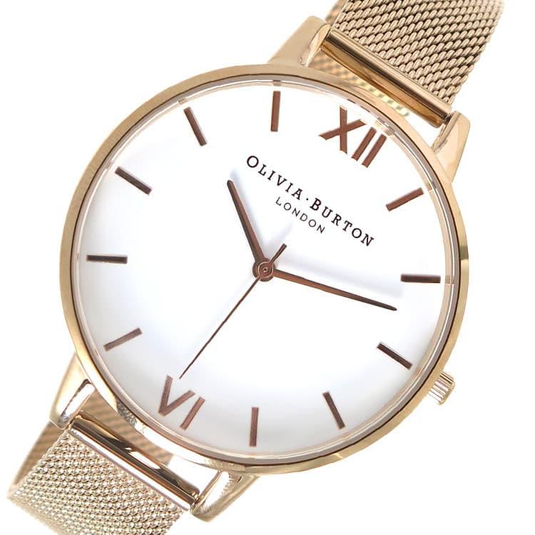 買い誠実 オリビアバートン OLIVIA BURTON 腕時計 レディース ホワイト×ピンクゴールド, りんごClub 49b6580e