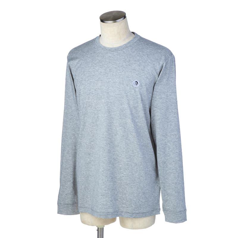 ディーゼル DIESEL Tシャツ カットソー メンズ 長袖 クルーネック ワンポイント Lサイズ