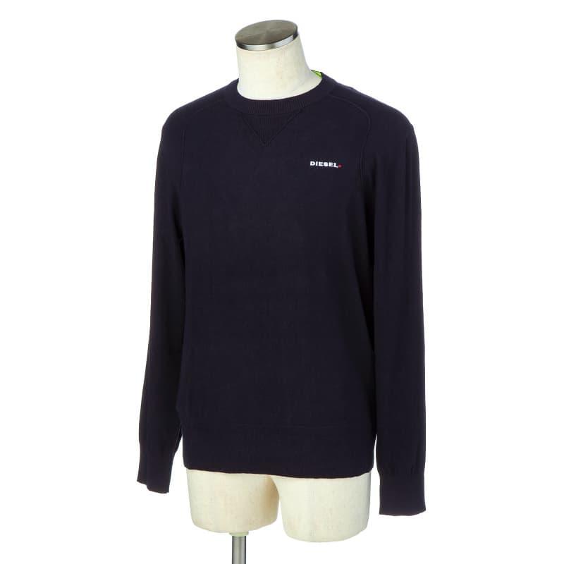 ディーゼル DIESEL Tシャツ カットソー メンズ 長袖 クルーネック ロゴプリント Sサイズ