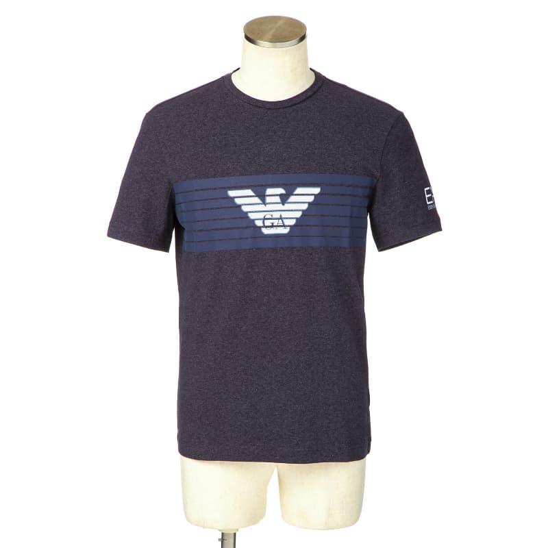EA7 エンポリオアルマーニ EA7 EMPORIOARMANI Tシャツ カットソー メンズ 半袖 クルーネック ロゴプリント Sサイズ