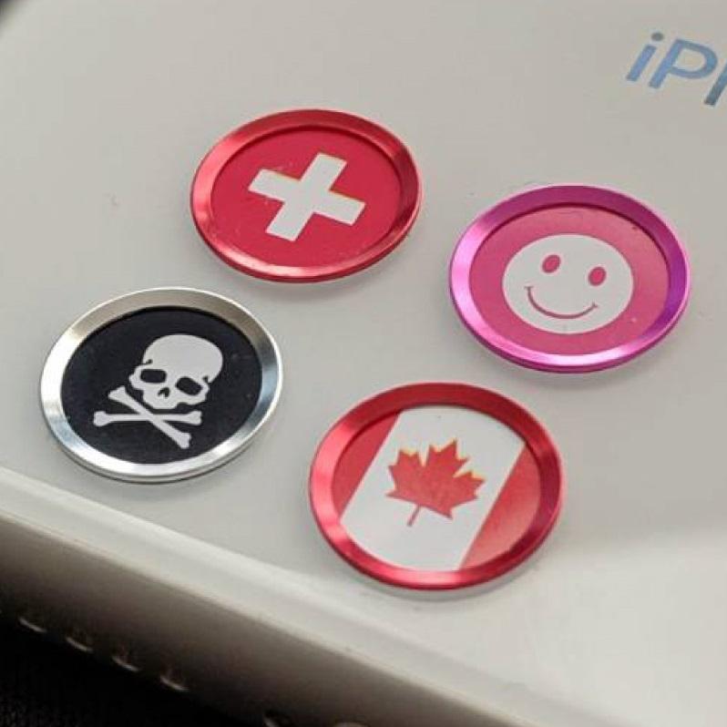 指紋認証率99% 送料無料 ブランド品 TOUCH ID BUTTON iPhone 指紋認証対応 ホームボタンカバー 吹き出し iphone iPad 4種 新生活 電源ボタン