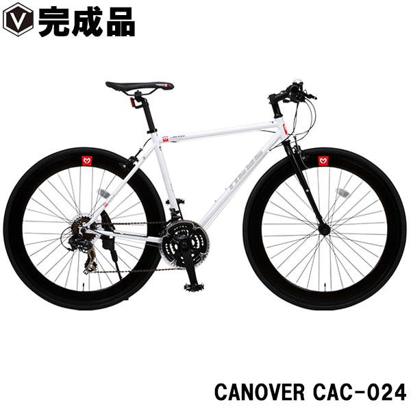 クロスバイク 700c(約700c) 自転車【完成品】超軽量 クロモリフレーム シマノ21段変速ギア付き 60mmディープリム CANOVER カノーバー CAC-024 HEBE ヘーべー