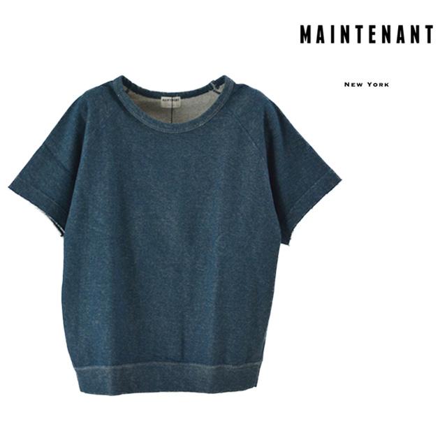 【送料無料】MAINTENANT / メンテナント スウェットプルオーバー メンズ 無地 上下 夏 半袖 コットン ネイビー