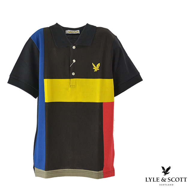 d7b75e7371ab Cotton black Father's Day gift line short-sleeved in Lyle&Scott / Lyle  and ...