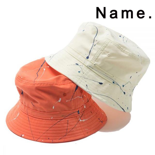 4f9b0126d NAME. Name SPLATTER PAINTED BUCKET HAT splatter paint pail hat big size men  street casual 2019 new work present gift