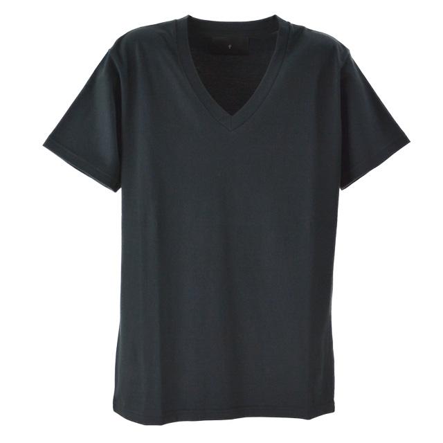 T' / ティ Tシャツ トップス カットソー Vee Neck Short Sleeve BASIC メンズ 半袖 ブラック 黒 無地 Vネック コットン おしゃれ 夏