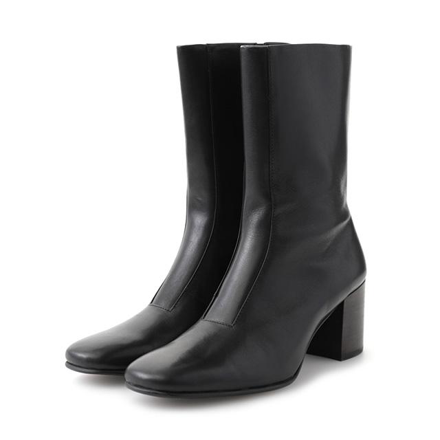 クラネ CLANE スクエアトゥ ブーツ レディース 歩きやすい 5cm ヒール ブラック 靴 ロングブーツ 15115-8411 【2018 新作】 【送料無料】 プレゼント ギフト