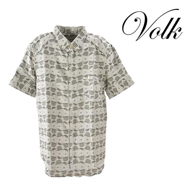 【送料無料】PARADI/パラディ Holiday shirt シャツ メンズ トップス 襟 コットン 半袖 夏 グレー 柄 抜け感 ボタン カジュアル