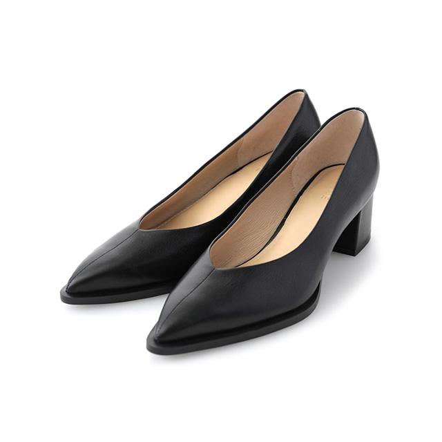 store Volk   Rakuten Global Market: クラネ CLANE V cut low heel pumps Lady's walk breathe; a 6cm heel black shoes 15,115-8421 present gift