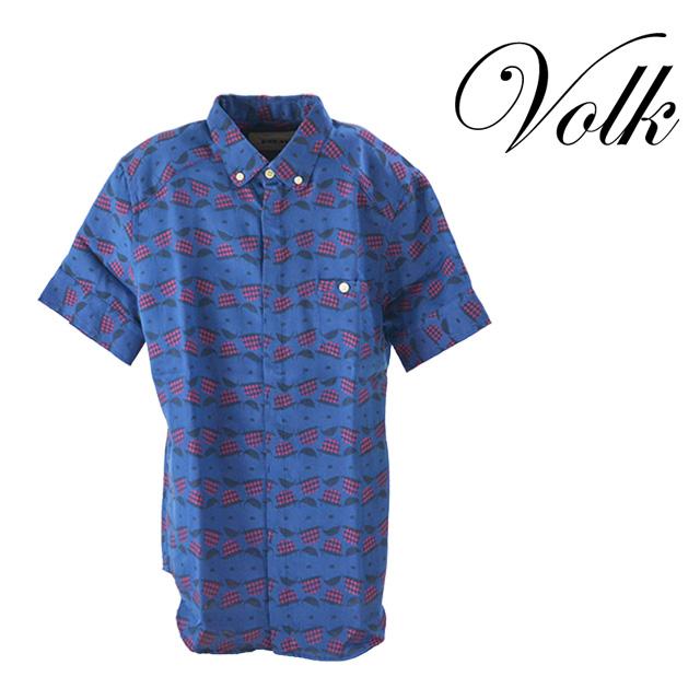 【送料無料】PARADI/パラディ Holiday shirt シャツ メンズ トップス 襟 コットン 半袖 夏 ブルー 柄 抜け感 ボタン カジュアル