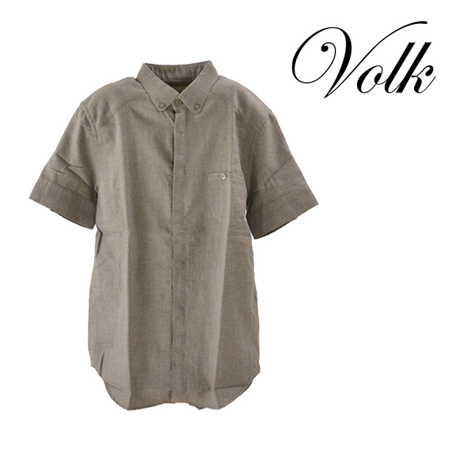 【送料無料】PARADI/パラディ Holiday shirt シャツ メンズ トップス 襟 コットン 半袖 夏 チャコール 無地 抜け感 ボタン カジュアル