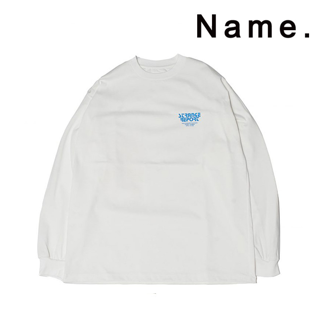 Name. ネーム プリント ロンT PRINT LONG SLEEVE TEE バックプリント 長袖 メンズ 2020 新作 【15:00までのご注文で即日配送】 プレゼント ギフト