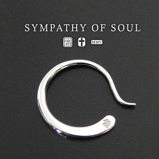 ユニセックス SYMPATHY OF SOUL Gradation Hook Pierce Silver シンパシーオブソウル ブランド シルバー 【正規商品 公式通販】 レディース メンズ 雑誌掲載 男女兼用 ピアス