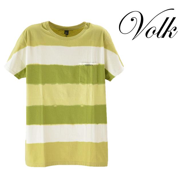 BLACK SURE BY SILVAIN SYLVIAN/ブラックサーフ バイ シルバン シルビアン バックプリントTシャツ メンズ トップス Tシャツ 半袖 ボーダー カーキ イエロー コットン100% 綿 夏