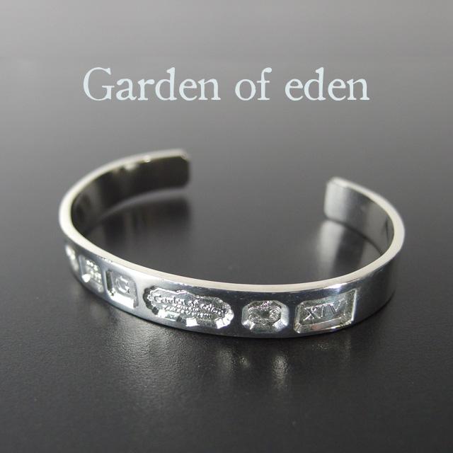 ガーデンオブエデン Garden of eden ホールマークバングル HALL MARK BANGLE メンズ レディース ユニセックス バングル ブレスレット シルバー シンプル ギフト 【送料無料】