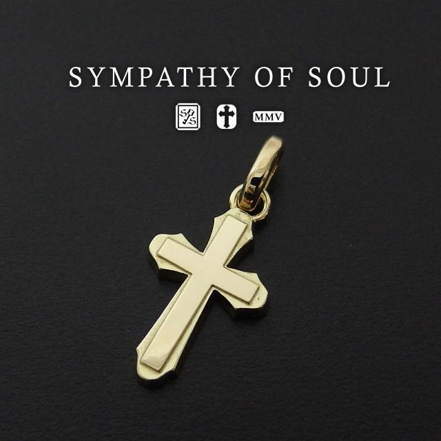 シンパシーオブソウル ペンダント スムースクロス Mペンダント K18 sympathy of soul Smooth Cross M Pendannt K18Yellow Gold (ネックレス K18 イエロー ゴールド メンズ レディース シンプル) プレゼント ギフト シンパシー オブ ソウル