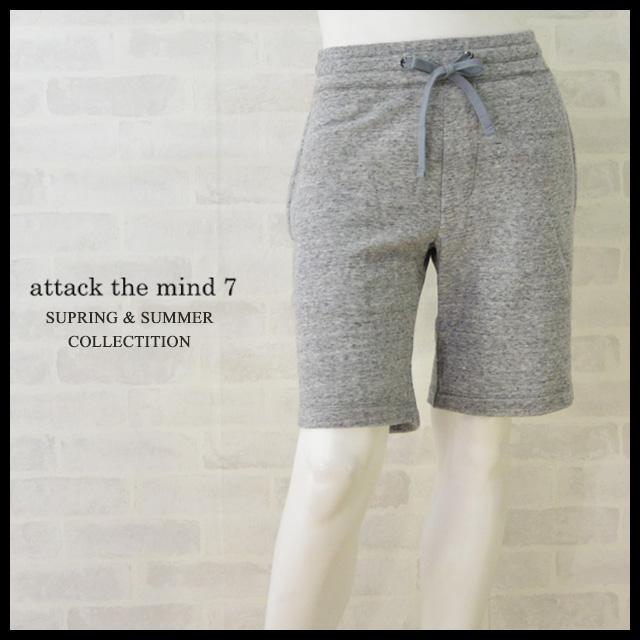 アタックザマインドセブン ショートパンツ スェット メンズ attack the mind 7 SHORT PANTS 【正規取扱店】 【送料無料】 プレゼント ギフト