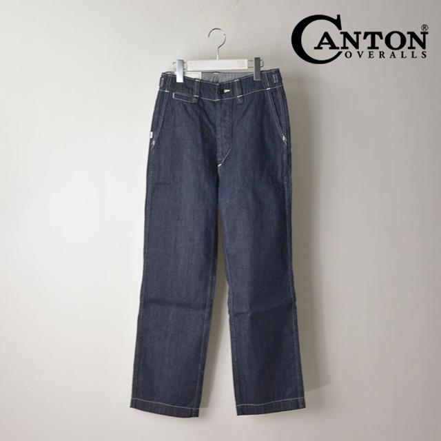 【送料無料】キャントンオーバーオールズ ワークパンツ メンズ ストレートパンツ コットン CANTON OVERALLS