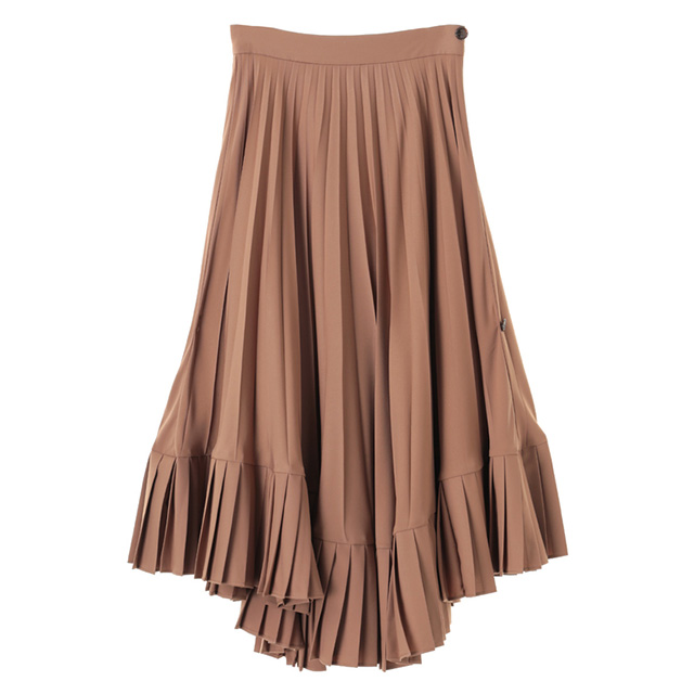 1f4efce467 クラネ CLANE double layer pleated skirt long skirt Shin pull Lady's DOUBLE  LAYER PLEATS SKIRT knee ...