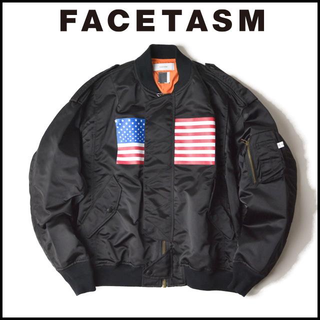 FACETASM ファセッタズム AMERICAN FLAG MA-1 アメリカンフラグ MA-1 メンズ レディース オーバーサイズ 大きいサイズ ジップアップブルゾン 2018 新作