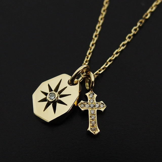 Store volk rakuten global market sympathizer sea of seoul sun sympathizer sea of seoul sun plate amp little cross necklace set k18 w diamond aloadofball Image collections
