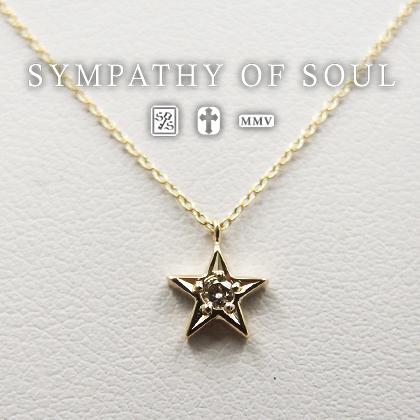 シンパシーオブソウル ゴールドネックレス レディース sympathy of soul ペンダント アクセサリー Shine Star - K10 リトルシャインスター (ネックレス レディース シンプル ゴールド ダイヤ) シンパシー オブ ソウル プレゼント