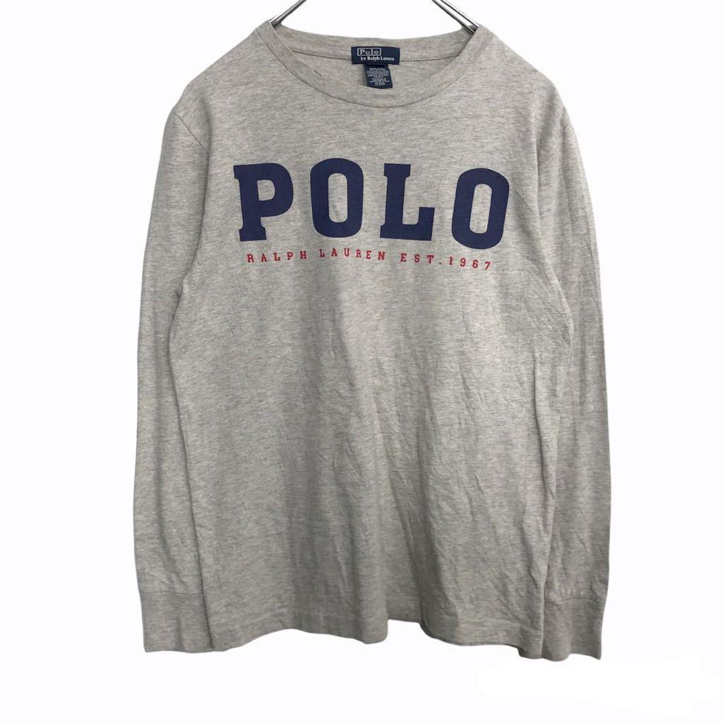 POLO [並行輸入品] RALPH LAUREN ロングTシャツ Mサイズ ラルフローレン t2109-3632 古着卸 キッズ グレー 祝日 アメリカ仕入