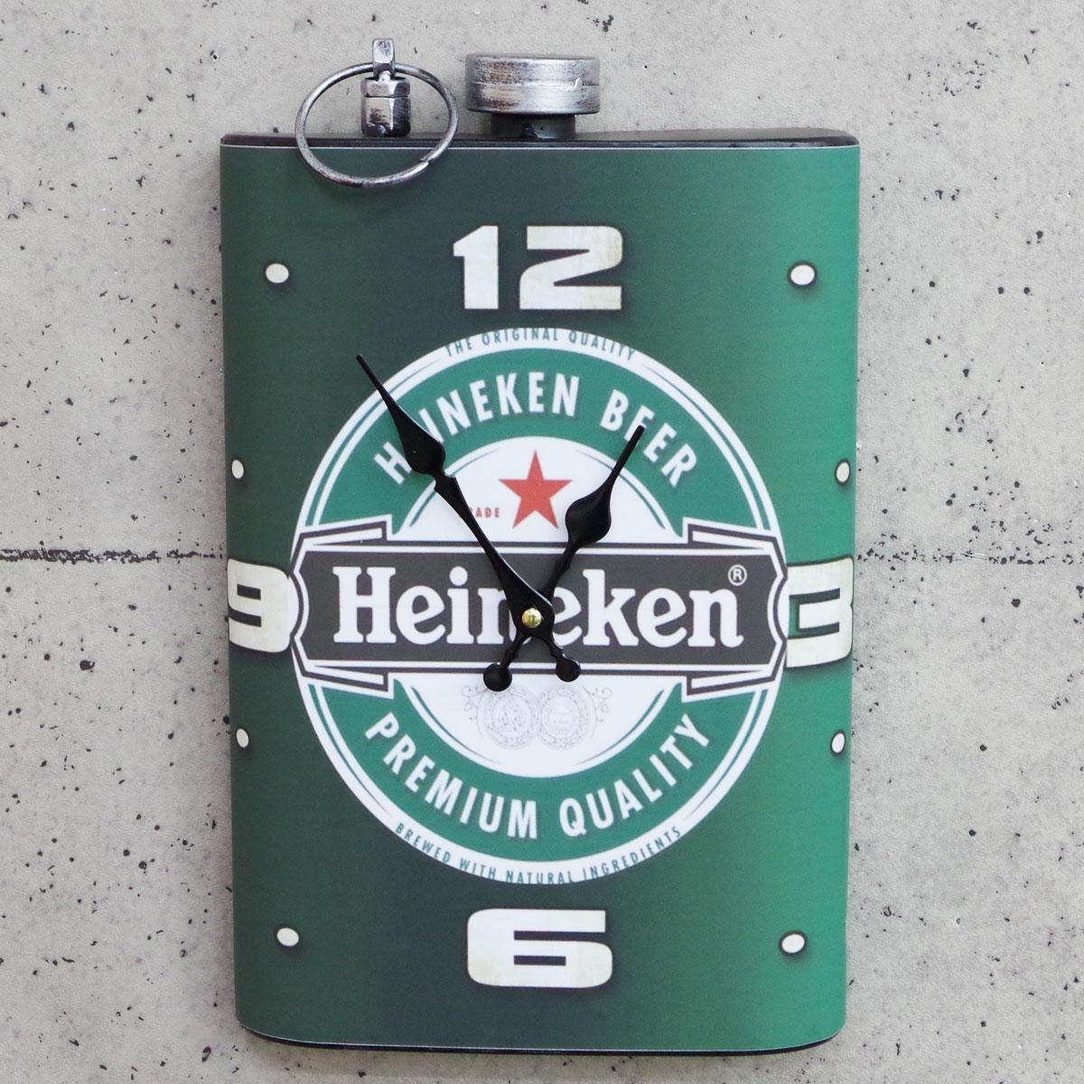 掛け時計 ウォールクロック スキットル型 ブリキ 雑貨 アメリカンレトロ ヴィンテージ 卓抜 ハイネケン ビール 限定特価 バー インテリア 9 BT-33 アメリカ雑貨 おしゃれ 10はエントリーでポイント10倍対象商品は20%OFF オシャレ時計 お店