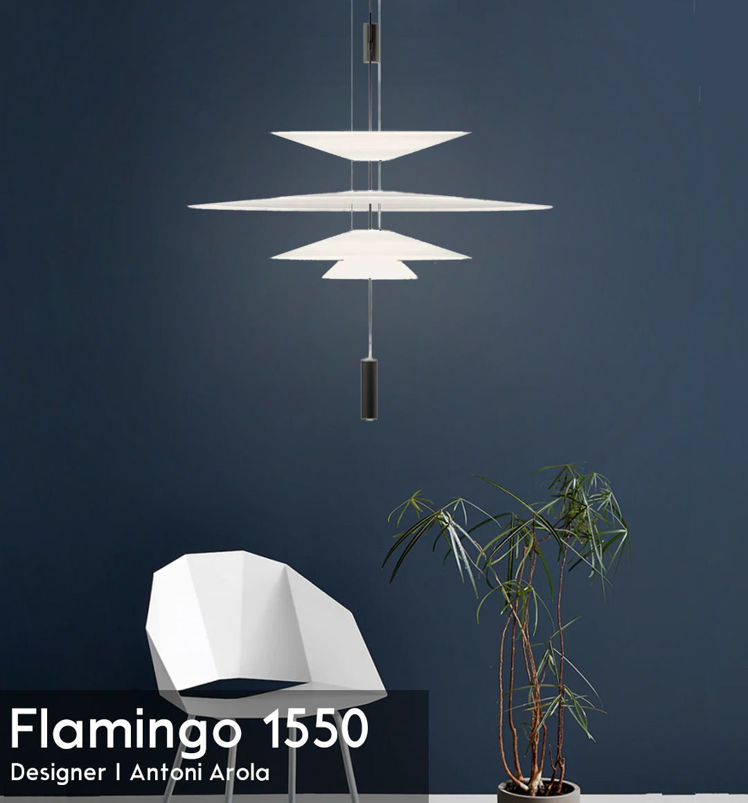 吊り下げ照明 ペンダントライト デザイナーズ照明 北欧 Flamingo 1550 Antoni Arola アントニ・アローラ おしゃれ ホワイト【FR-04】