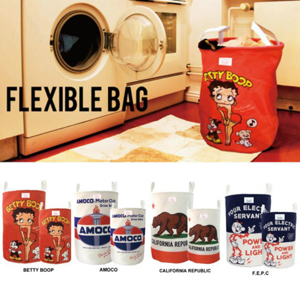 美國彈性包(betibupu S尺寸)洗衣袋灰塵箱玩具箱洗衣筐子收藏美國雜貨美國雜貨世田谷基礎商品室內裝飾Betty Boop貝蒂貝蒂折疊